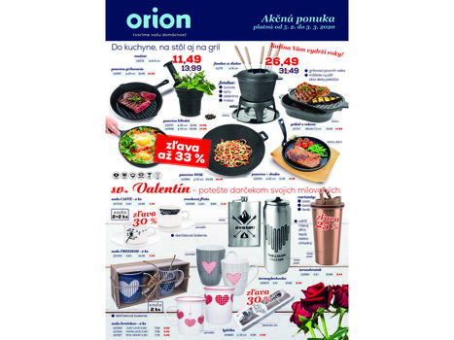Orion: Aktuálny leták