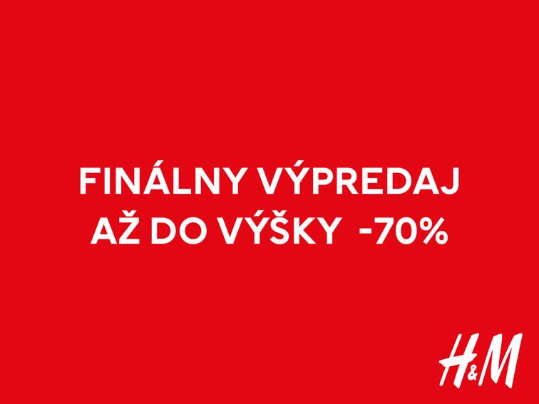 FINÁLNY VÝPREDAJ V H&M: ZĽAVY AŽ DO 70%